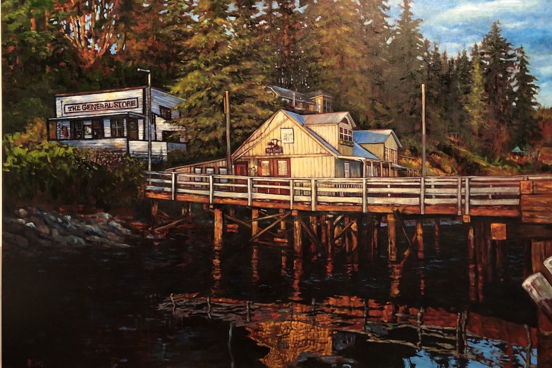 port washington | new work | Artist painter Kim Pollard | Canada | Pacific Northwest